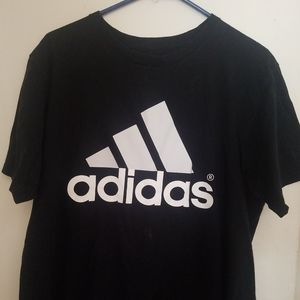 ADIDAS Mens The Go-To Tee Size L Black and White